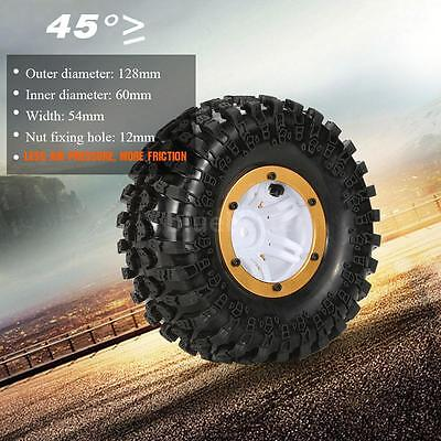 Austar AX-3022GD Air Pneumatic Beadlock Wheel Rim &Tire for RC Car Gold USA L3U6