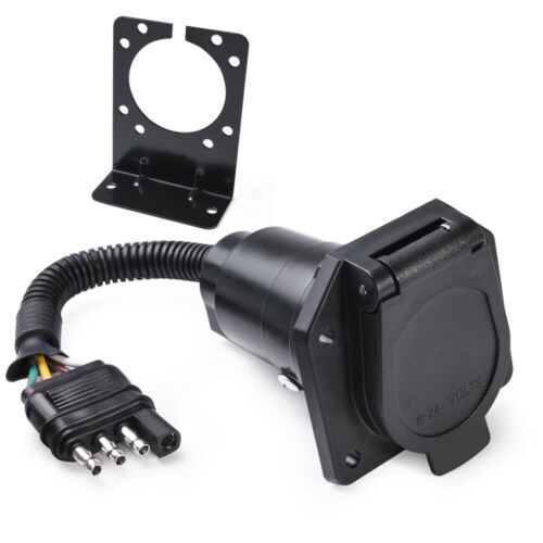 TRAILER RV Round Connector Bracket For Mounting 6 and 7 Way Adapters