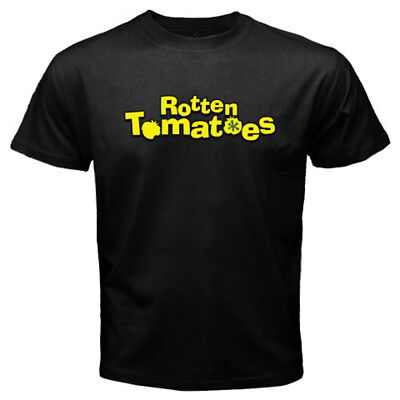 New Rotten Tomatoes Movie Rating Logo Mens Black T Shirt Size S To 3Xl
