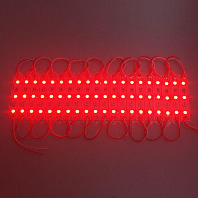 20 LED RED MODULES Module STRIP WATERPROOF BOAT DECK GARDEN MARINE CARAVAN LIGHT