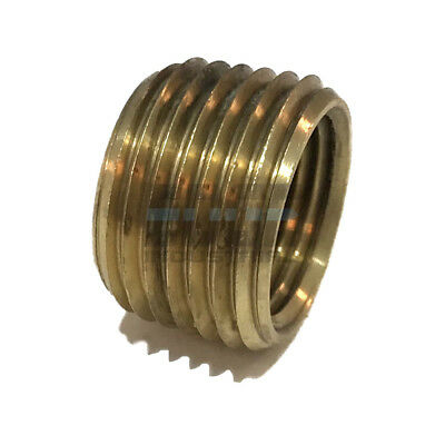 - BRASS FACE BUSHING REDUCING NPT THREADS PIPE FITTING 1/2 MALE X 3/8 FEMALE
