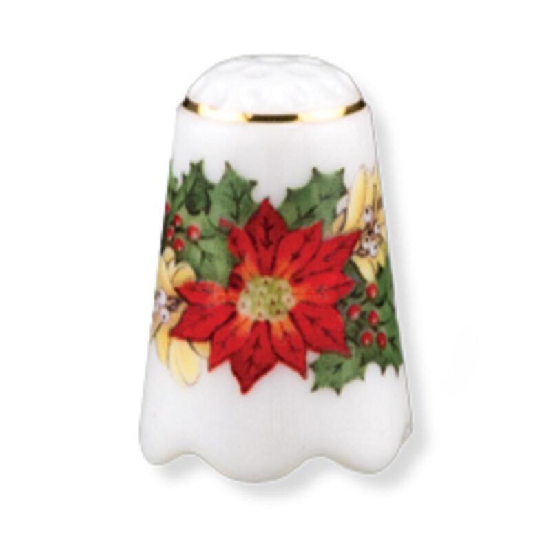 Christmas Flower Poinsettia Thimble By Reutter Porcelain MPN 19.256/0