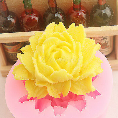 Flexible Silicon Mold - Big Rose Flower Soap Mould Flexible Silicone Fondant Cake Mold Chocolate Mould