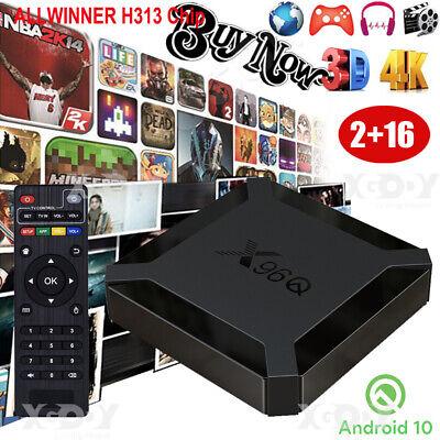 2020 Android 10.0 X96Q 2+16G Quad Core Smart TV BOX WIFI G31 GPU ALLWINNER USB