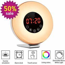 Wake Up Light Nature Sunrise Simulation Alarm Clock FM Radio Birds Song