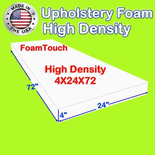 "Foamtouch High Density 4"" X 24"" X 72"" Upholstery Foam Cushion Replacement"