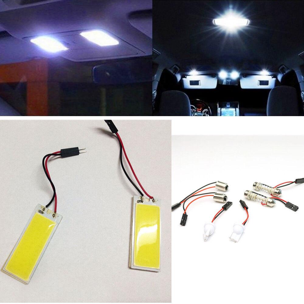 18 SMD T10 4W COB Panel Lights LED Car Interior 12V Lamp Bulb Dome White Light