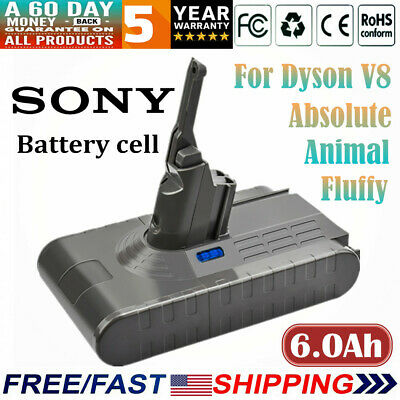 21.6V 6.0Ah Replacement Battery for Dyson V8 Animal Handheld Vacuum Cleaner US