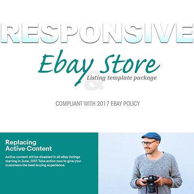 Responsive Ebay Store and Listing Template banner slider 2017 Design