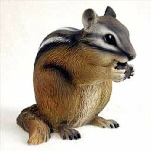 "NEW Chipmunk 4"" Figurine Sculpture Statue Life Like Animal Realistic Deco AF73"