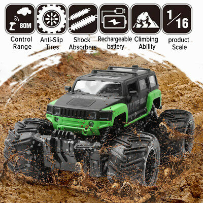 (1/16 2.4G RC Monster Truck Off-Road Remote Control Mud Cars Electric RTR Hobbies)