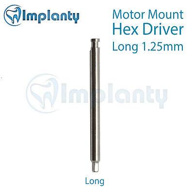 Motor Mount (Motor Mount Hex Driver 1.25mm Long Dental Abutment Fit AB Alpha Bio MIS)