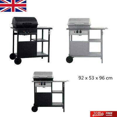 Gas BBQ Grill with 3-layer Side Table Outdoor Grill Barbecue Functional Burner