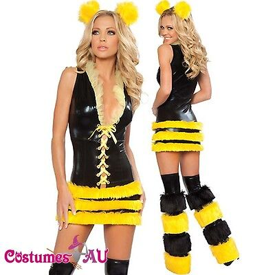 Ladies Queen Of Bee Luxury Outfit Costume Fancy Dress One Size SZ 6 8 10 - Luxury Fancy Dress Costumes