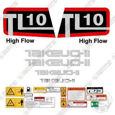 Takeuchi Tl 10 Skid Steer Decal Kit Equipment Decals Tl10 Tl-10