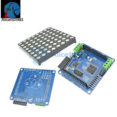 5mm 88 8x8 Rgb Dot Matrix Led Display Shield Matrix Driver Shield For Arduino