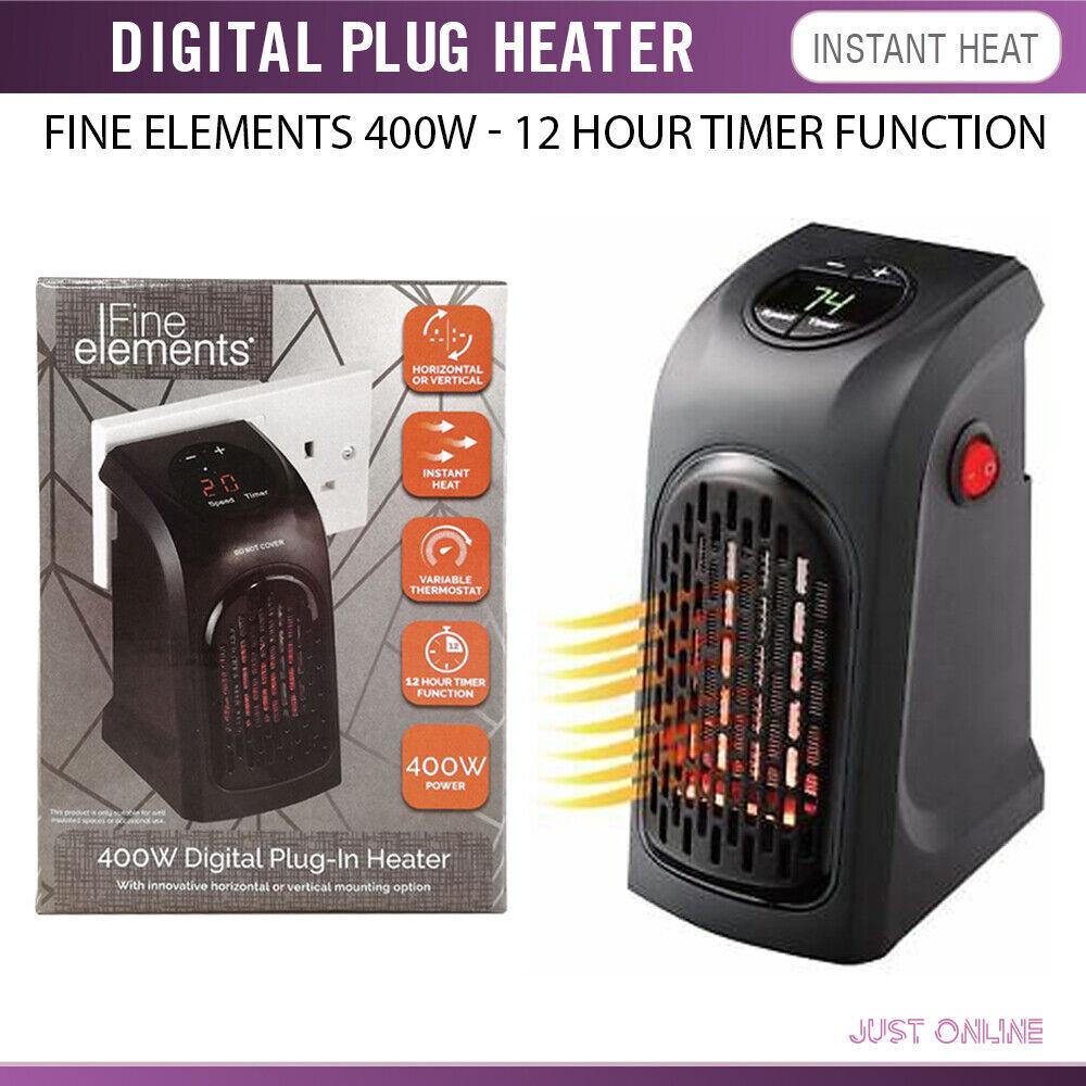Fine Elements 400W portatile Plug in Instant riscaldatore elettrico display digitale a LED