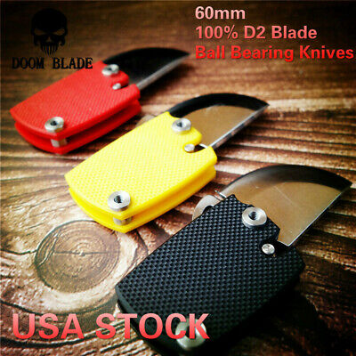 D2 Blade Ball Bearing Knives G10 Handle Folding Knife Survival Utility (2 Blade Folding Knife)