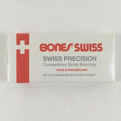Bones Swiss With Spacers 8 Pack Of Brand New Competition Skate Bearings