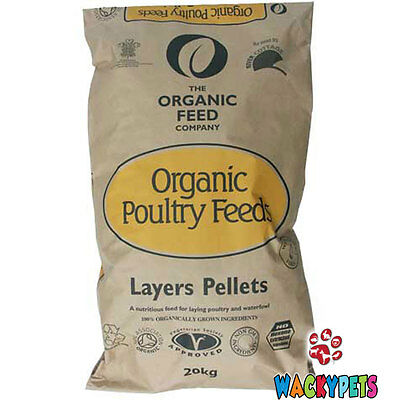 POULTRY FOOD ORGANIC LAYERS PELLETS 20kg Allen & Page Organic Feed Co (AP041)