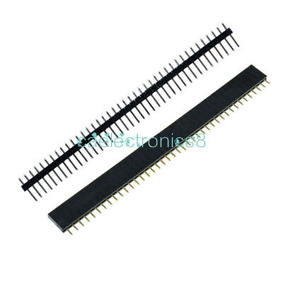 10pc Femalemale 40pin 2.54mm Header Socket Single Row Strip Pcb Connector Ca