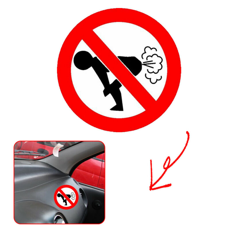 1x Text Word 12*12CM Funny Car Sticker Auto Decoration No Farting Body Decal PET