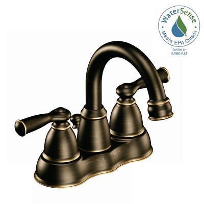Moen Banbury 4 in. Centerset 2-Handle Bathroom in Faucet Mediterranean Bronze ()