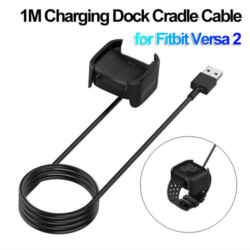 Cradle USB Charger Cable Power Adapter Fast Charging Dock For Fitbit Versa 2
