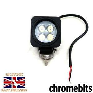 4x-10W-CHIARO-4-LED-AUTO-MOTO-LAVORO-guida-nebbia-luci-rotondo-faro-fari