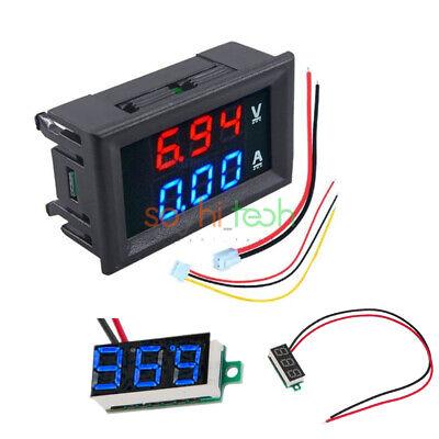 Dc 100v 10a Blue Red Led Voltmeter Ammeter Amp Dual Digital Volt Amp Meter