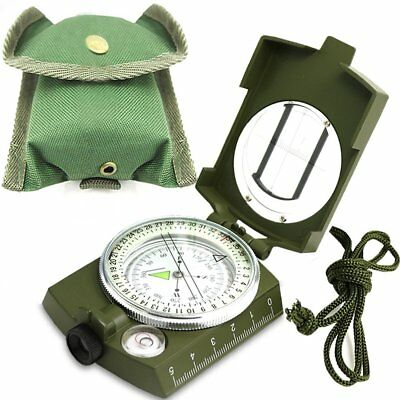 Professional Military Army Metal Sighting Compass Clinometer Camping Hiking CA
