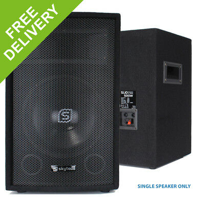 Skytec 10 Inch 250W 2 Way Bass Reflex Passive Bedroom DJ PA System Party Speaker