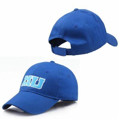 US STOCK Walt Monsters University M U MU Blue Baseball Hat Cap Adult BRAND NEW