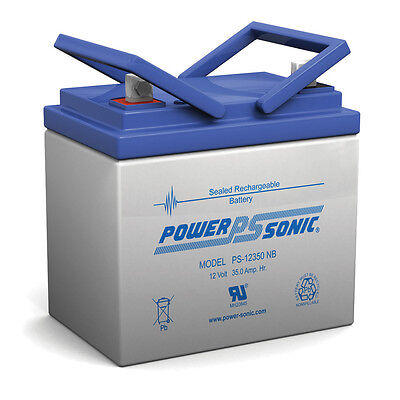 Power-Sonic 12V 35Ah U1 Profound Cycle AGM Solar Battery Also Replaces 33Ah, 34Ah, 3