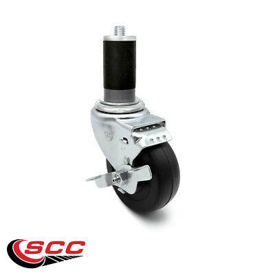 Scc 3.5 Hard Rubber Wheel Swivel Caster W1-38 Expanding Stem Wbrake