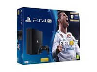 New Sony Playstation 4 Pro PS4 Pro 1TB 4K HDR Console + Fifa 18 Bundle