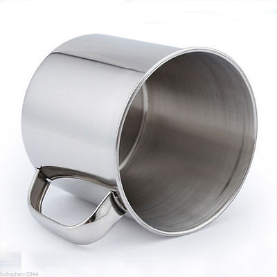 Stainless Steel Coffee Tea Mug Cup-Camping/Travel 3.5  Hot YF TOCA