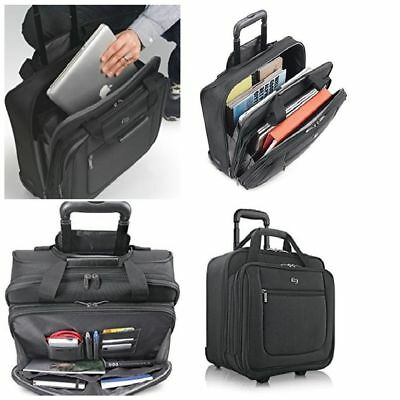 Rolling Laptop Case 17.3 Inch Bag With Wheels Computer Roller Bag Black (Case Wheeled Laptop Cases)