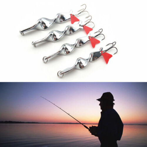 Outdoor Fishing Bait Lure Hook Twist Red Heart Spoon Crankbaits Spinner Tackle