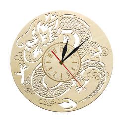 Vintage Dragon Sculpture Watch Japanese Original Non Ticking Wooden Wall Clock