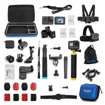 TELESIN Action Camera Accessories 20 in 1 Starter Kit Set for GoPro Hero 5 6 7 8