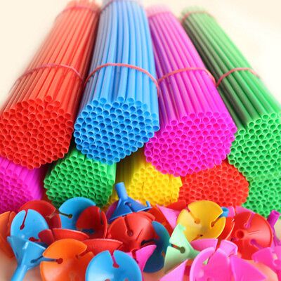 Lot Colorful Plastic Rods +Round Holder Balloons Holder Foil Balloon - Mint Colored Balloons