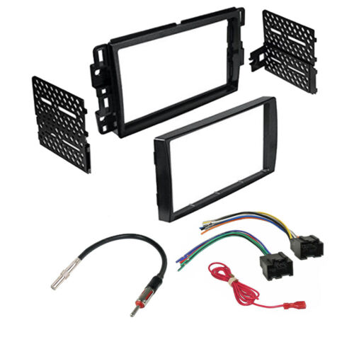 DOUBLE DIN CAR STEREO DASH INSTALL KIT for CHEVROLET SILVERADO 2007-13