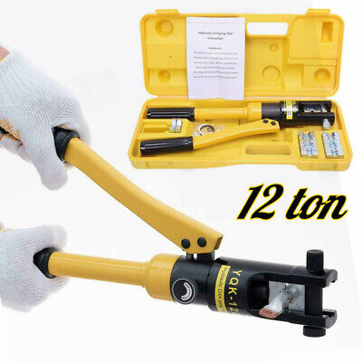 12 Ton Hydraulic Wire Crimper Crimping Tool Battery Cable Lug Terminal 10 -120mm