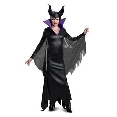 Womens Maleficent Deluxe Disney Halloween Costume (Womens Deluxe Halloween Costumes)