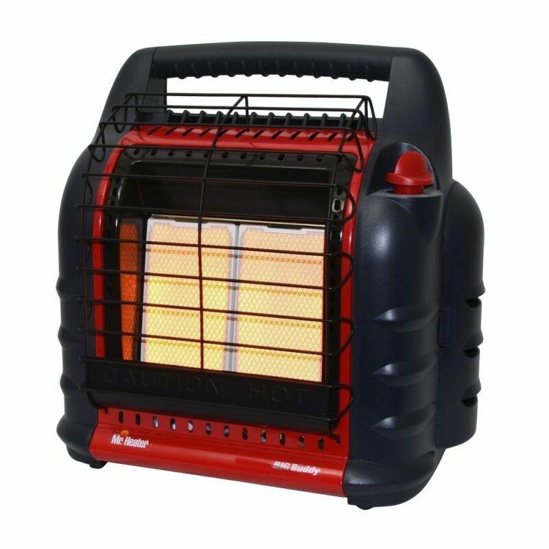 Mr. Heater Big Buddy Heater w/o Fan, 4000 - 18000 BTU - Standard, Red: F274805