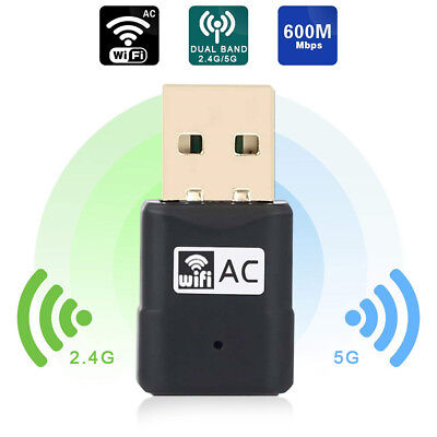 USB WiFi Adapter 600Mbps Dual Band 2.4G/5G Wireless WiFi Dongle Network Card