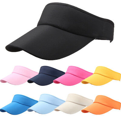 Headband Visor - US Men Women Ladies Girls Sport Headband Classic Hat Casual Sports Visor Sun Cap