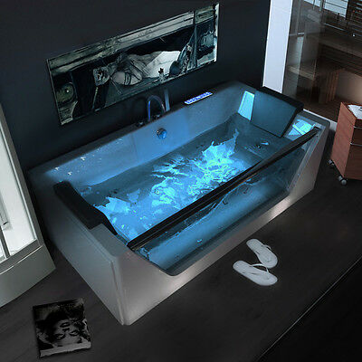 1700 Whirlpool Shower Spa Jacuzzi Massage Corner 1 person Double Bathtub 6180M
