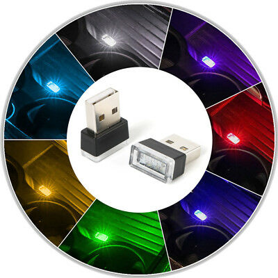 1x Flexible Mini USB LED Light Colorful Lamp For Car Atmosphere Lamp Accessories